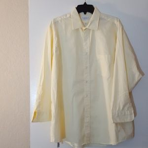 VAN HEUSEN Yellow Dress Shirt Long Sleeve Size 17